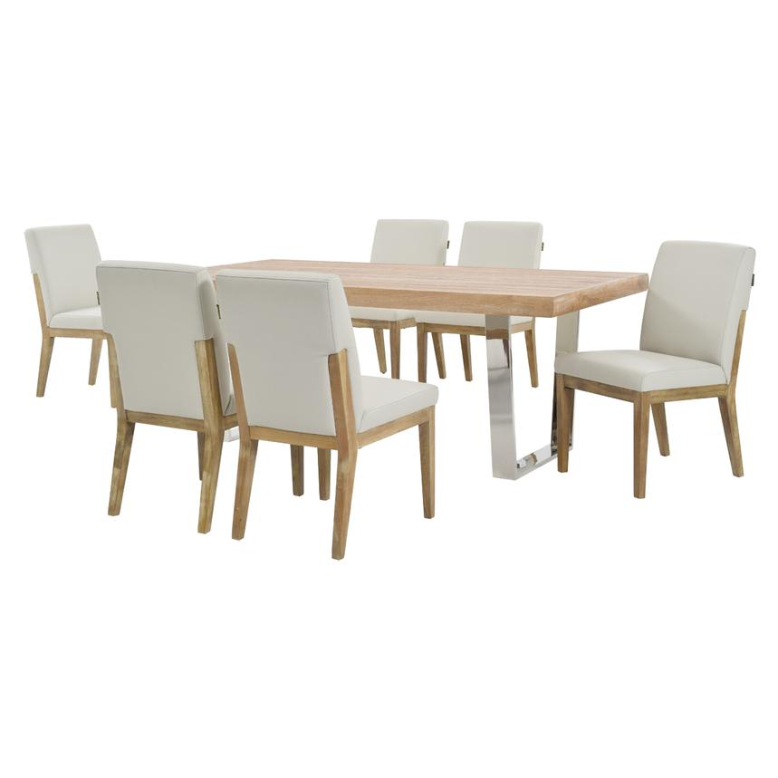 Vela/Suria Light Gray 5-Piece Formal Dining Set  alternate image, 2 of 11 images.