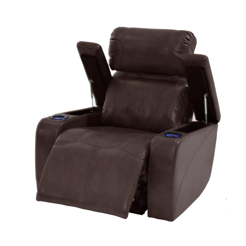 Magnetron Brown Power Motion Recliner  alternate image, 2 of 6 images.