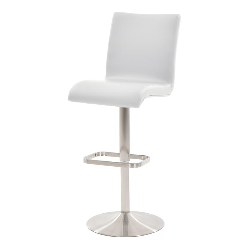 Fogo White Adjustable Stool  alternate image, 2 of 6 images.