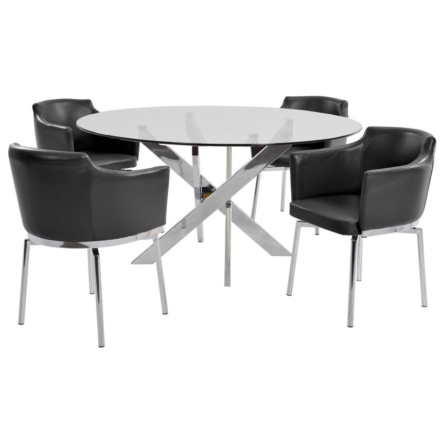 Dusty Black 5-Piece Casual Dining Set  main image, 1 of 8 images.