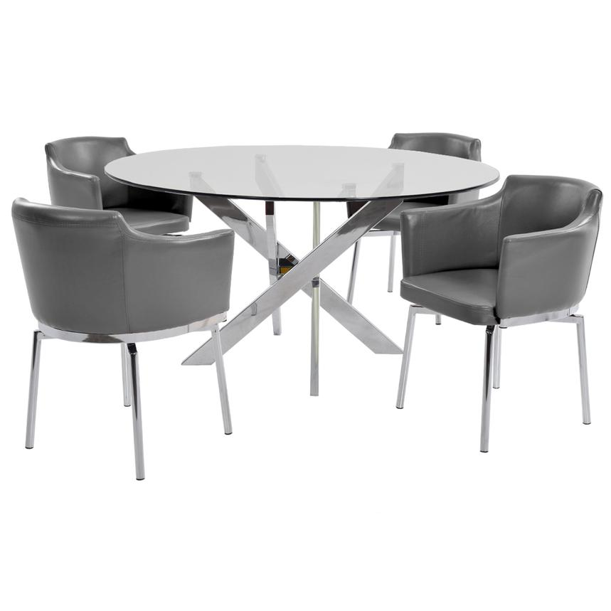 Dusty Gray 5-Piece Casual Dining Set  main image, 1 of 9 images.