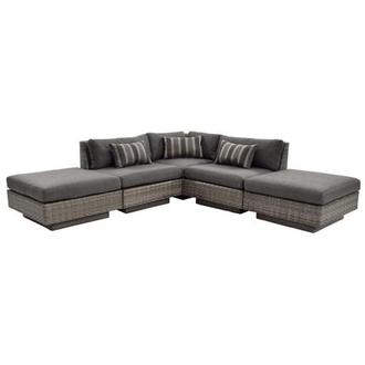 Key Largo Sofa w/Ottomans
