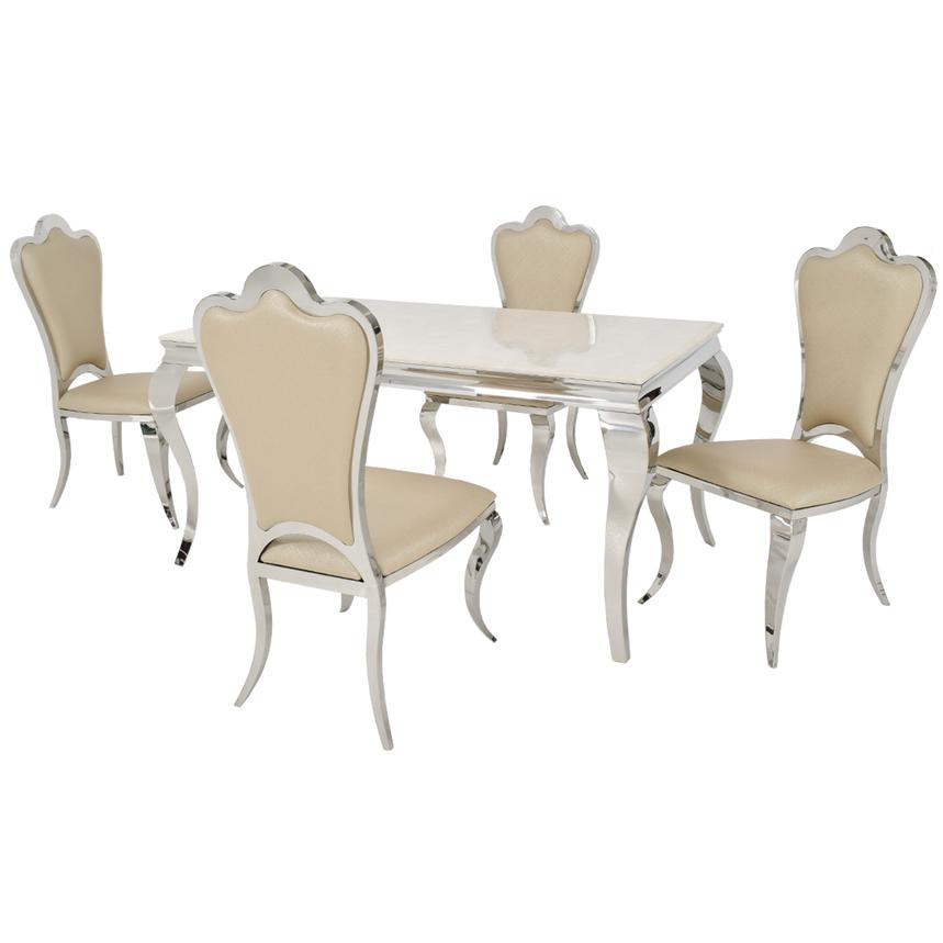 Lizbon/Mariana 5-Piece Formal Dining Set  main image, 1 of 11 images.