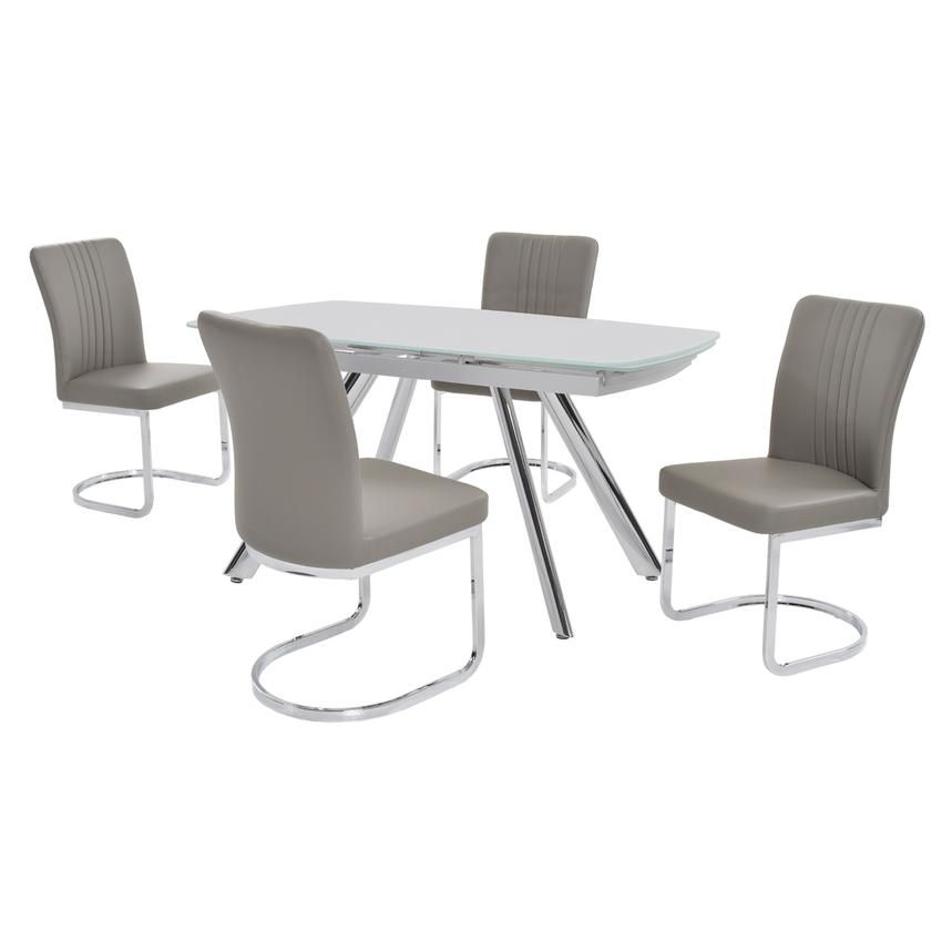 Alina Gray 5-Piece Casual Dining Set  main image, 1 of 8 images.
