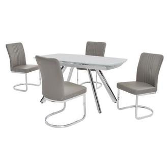 Alina Gray 5-Piece Casual Dining Set