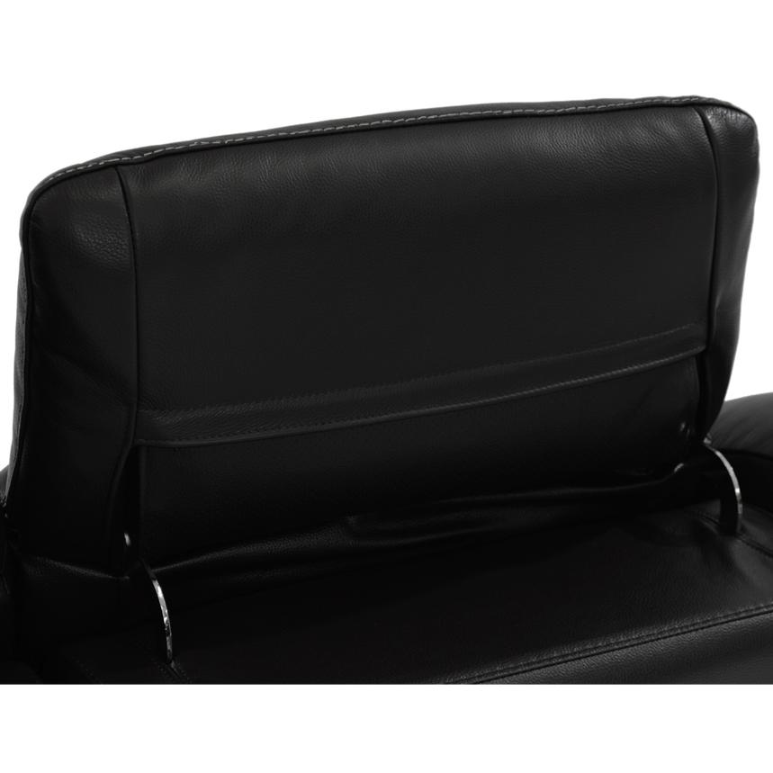 Davis Black Power Motion Leather Sofa w/Right & Left Recliners  alternate image, 7 of 8 images.