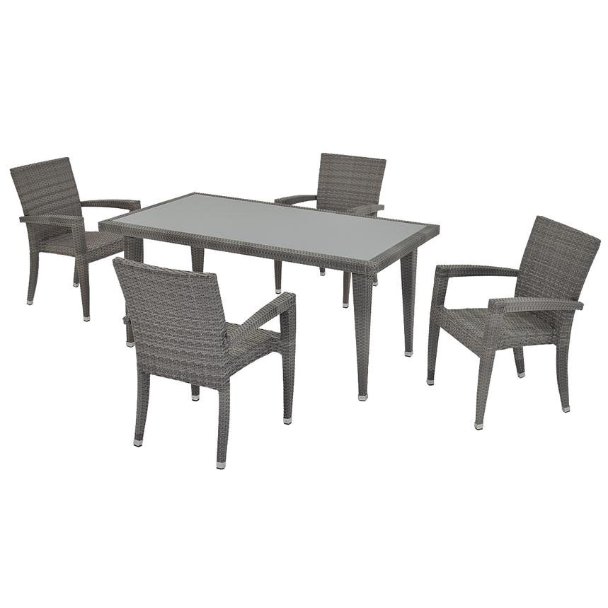 Neilina Gray 5-Piece Patio Set  main image, 1 of 11 images.
