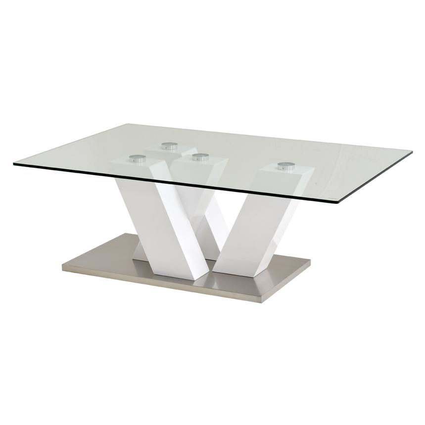 Solimar White Coffee Table  main image, 1 of 3 images.