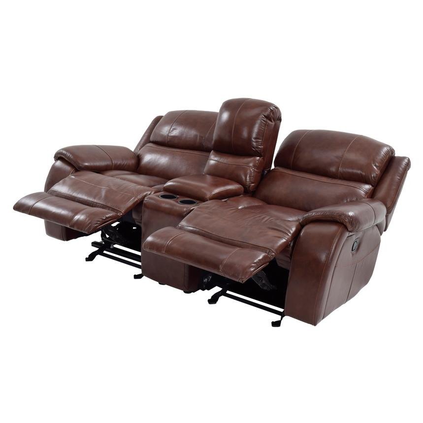 Merveilleux Abilene Recliner Leather Sofa W/Console Alternate Image, 2 Of 9 Images.