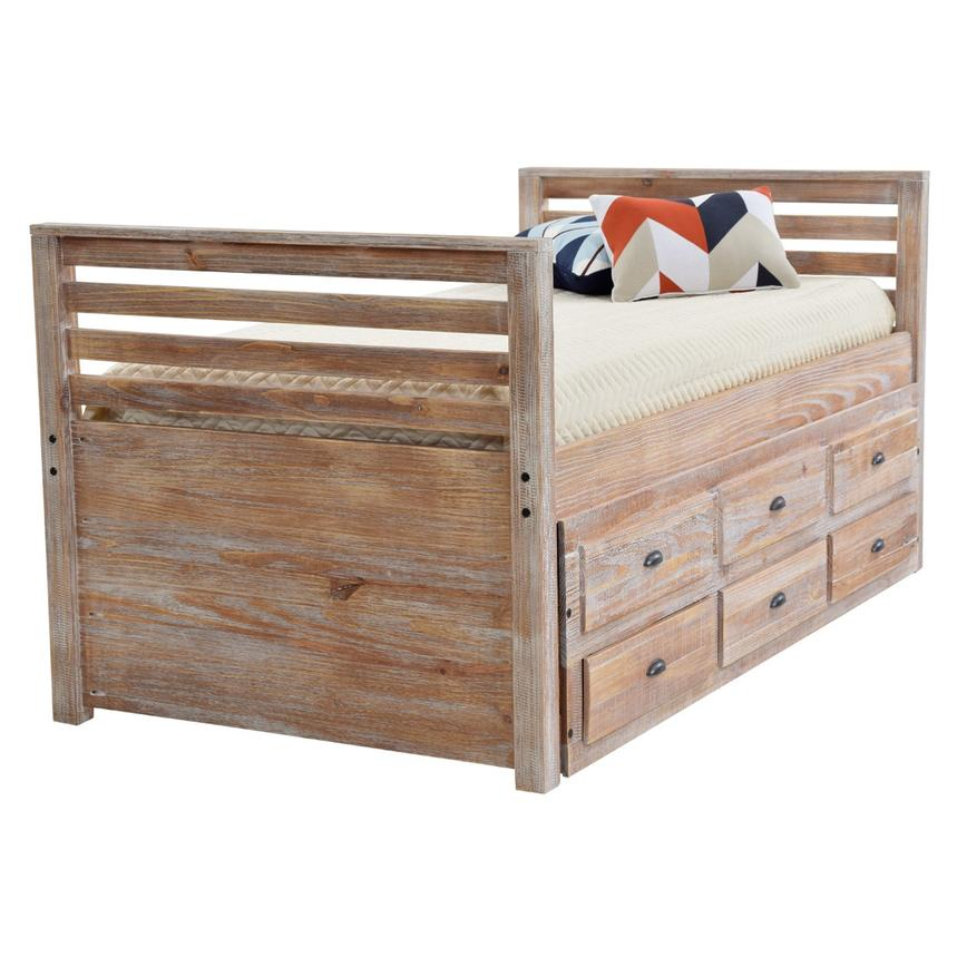 Montauk Natural Twin Storage Captain Bed Made in Brazil  main image, 1 of 9 images.