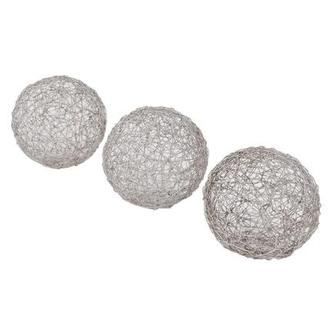 Wire Set of 3 Spheres