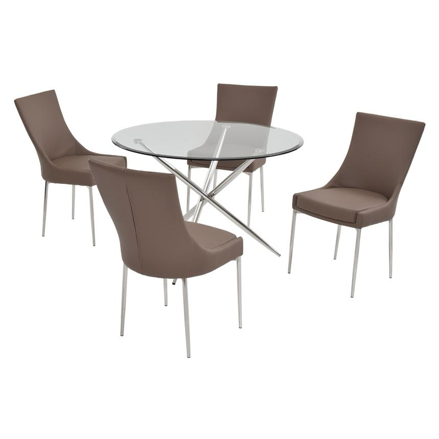 Patricia Taupe 5-Piece Casual Dining Set  main image, 1 of 7 images.
