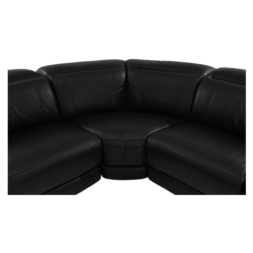 Davis Black Power Motion Leather Sofa w/Right & Left Recliners  alternate image, 6 of 11 images.