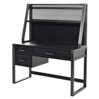 Graphite Desk w/Hutch