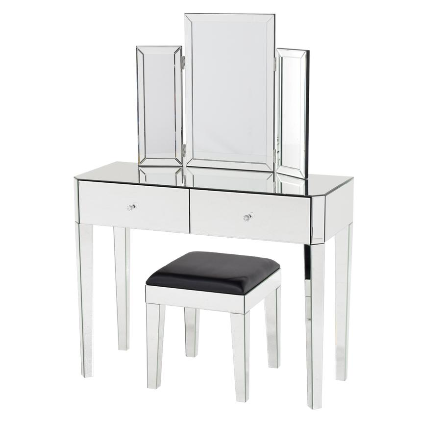 Clea Vanity Desk w/Bench  main image, 1 of 9 images.