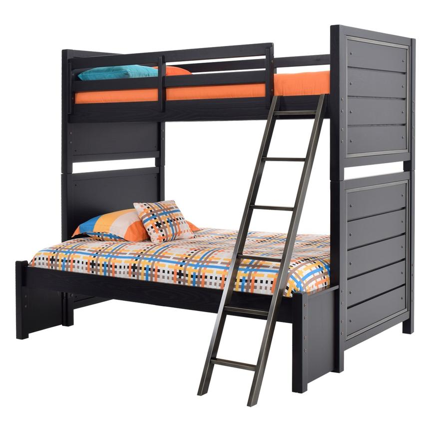 Graphite Twin Over Full Bunk Bed  main image, 1 of 8 images.