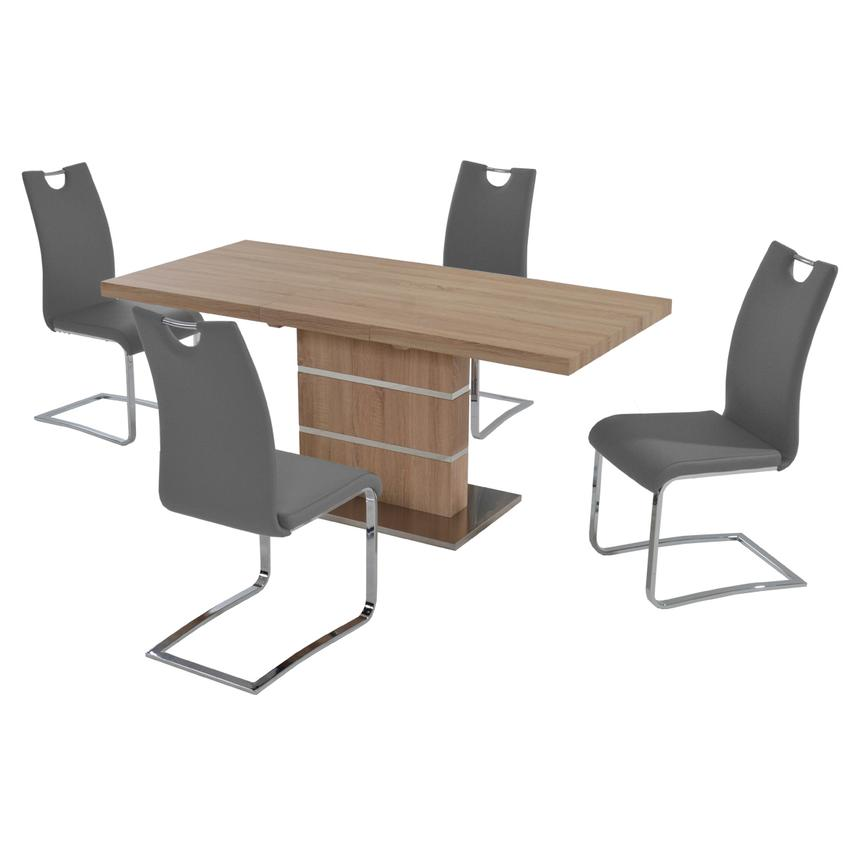Lorange/Josseline Gray 5-Piece Casual Dining Set  main image, 1 of 10 images.