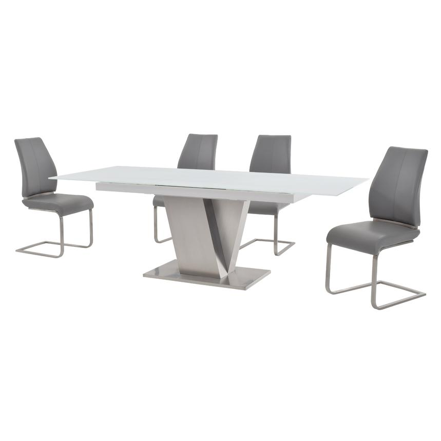 Maday Gray 5-Piece Formal Dining Set  alternate image, 2 of 10 images.