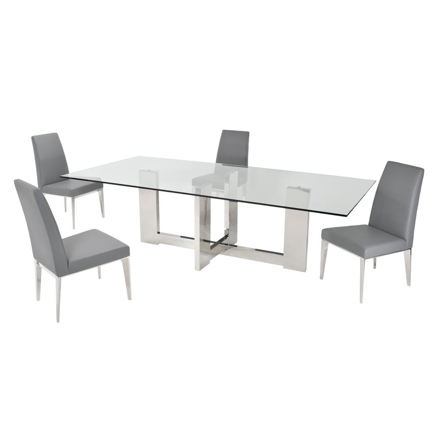Opus Gray 5-Piece Formal Dining Set  main image, 1 of 10 images.