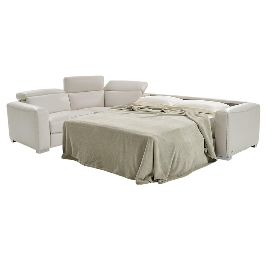 Bay Harbor Cream Power Motion Leather Sofa w/Right Sleeper  alternate image, 2 of 7 images.