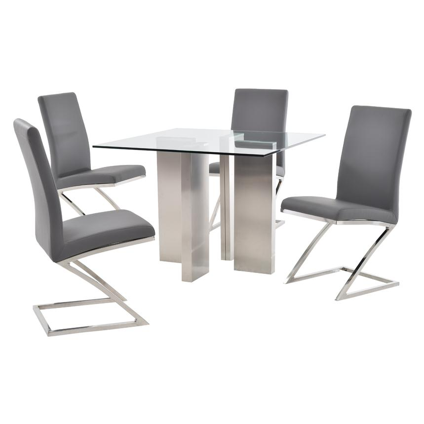 Soler/Jade Gray 5-Piece Casual Dining Set  main image, 1 of 11 images.
