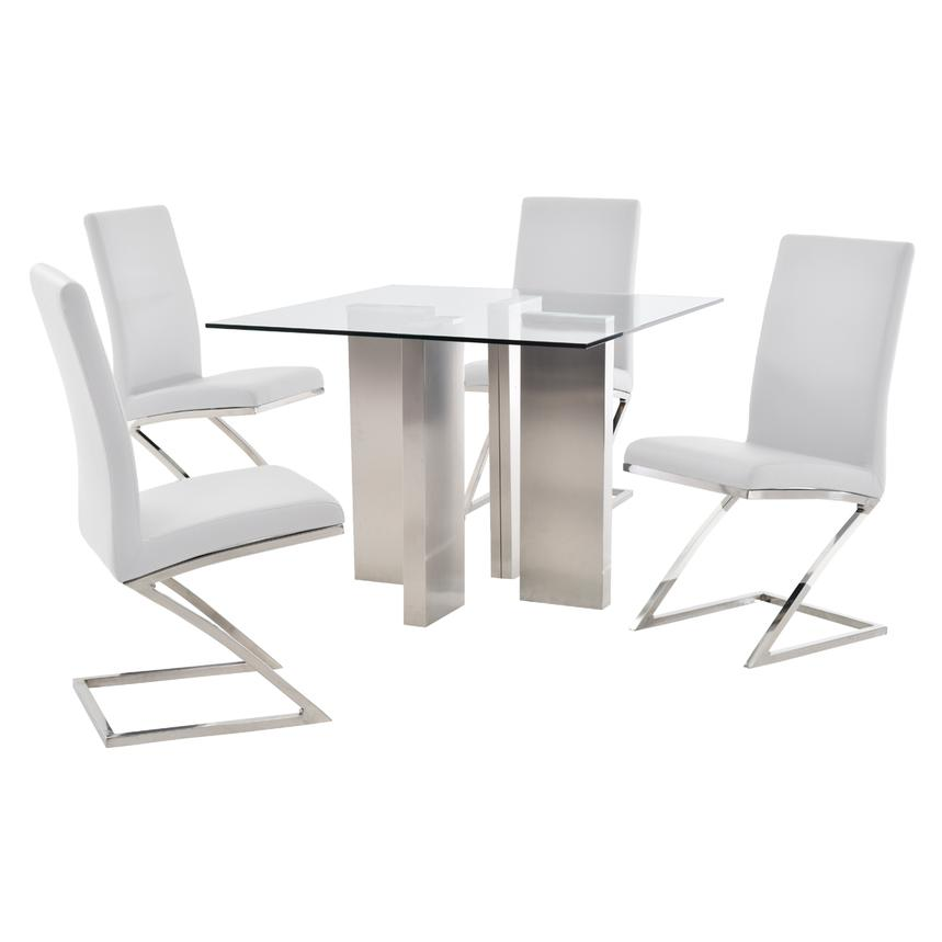 Soler/Jade White 5-Piece Casual Dining Set  main image, 1 of 10 images.