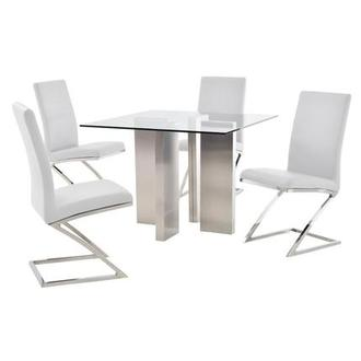 Soler/Jade White 5-Piece Casual Dining Set