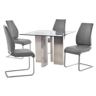 Soler/Maday Gray 5-Piece Casual Dining Set