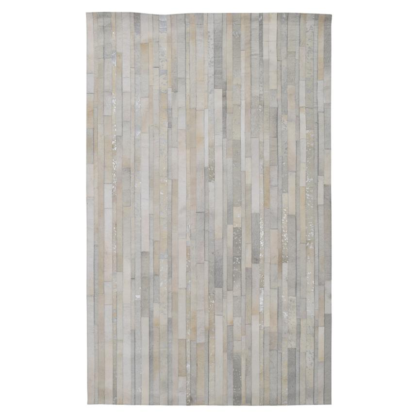 Marsala Cream Cowhide Patchwork 5' x 8' Area Rug  main image, 1 of 4 images.