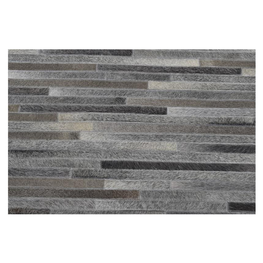 Capri Gray Cowhide Patchwork 5' x 8' Area Rug  alternate image, 2 of 4 images.