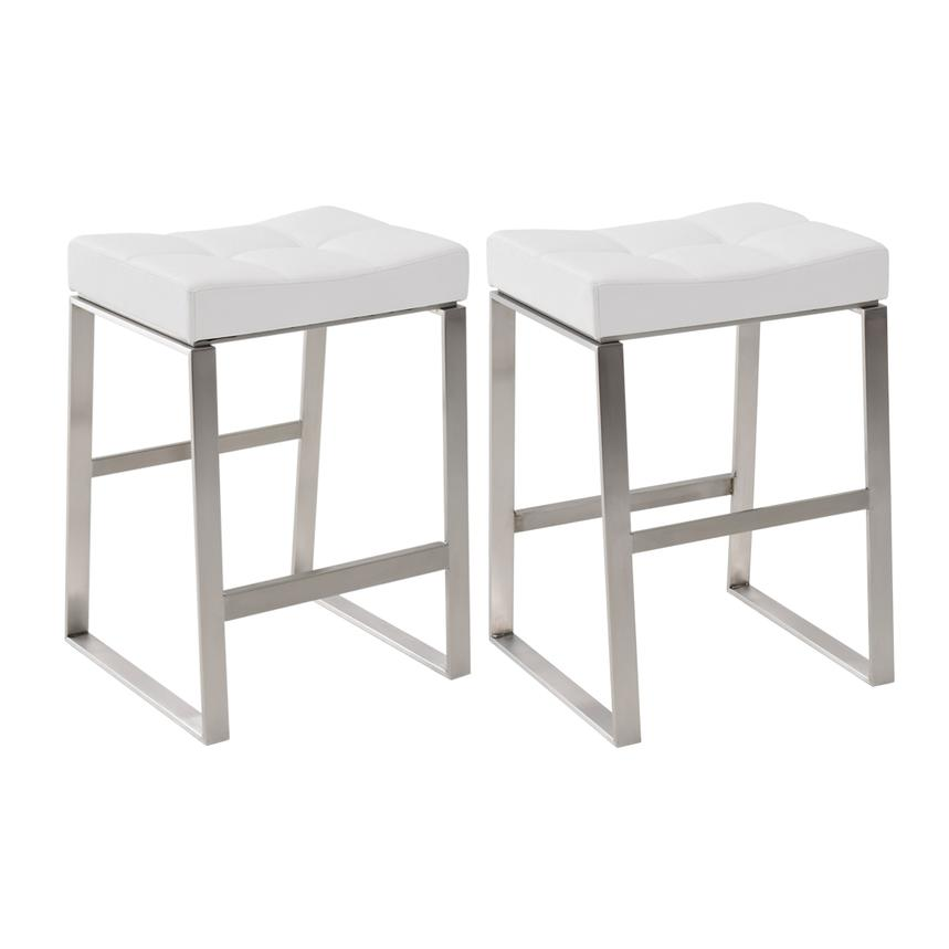 Sabriel White Counter Stool El Dorado Furniture