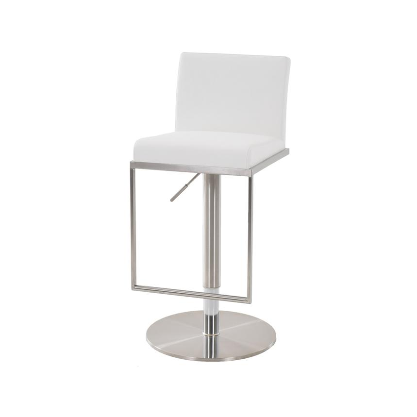 Brisa White Adjustable Stool  alternate image, 2 of 4 images.