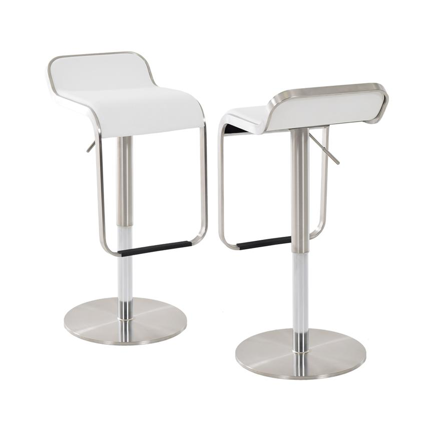 Binx White Adjustable Stool  main image, 1 of 5 images.