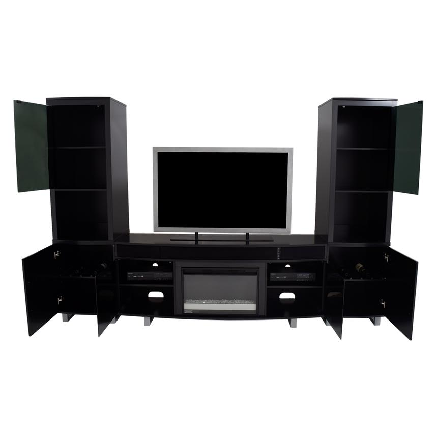 Enterprise Black Wall Unit w/Speakers  alternate image, 2 of 13 images.