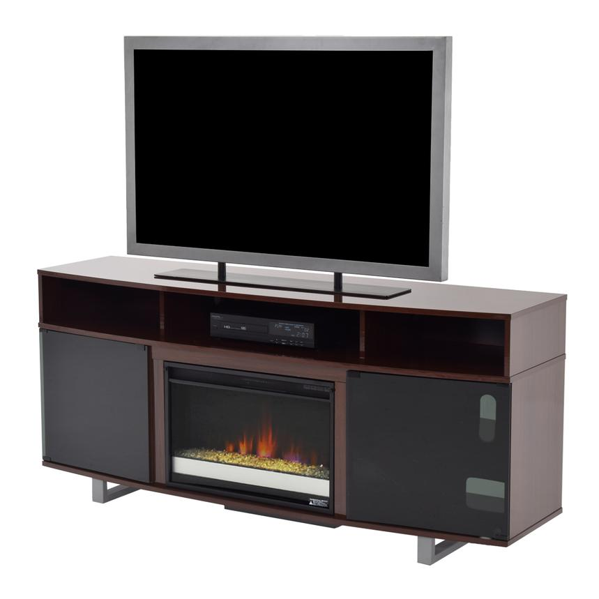 Enterprise Walnut Faux Fireplace w/Remote Control  main image, 1 of 5 images.