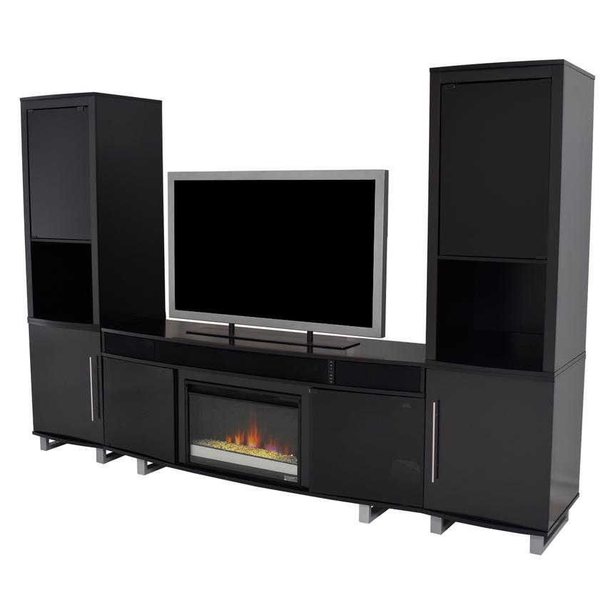 Enterprise Black Wall Unit w/Speakers  main image, 1 of 12 images.