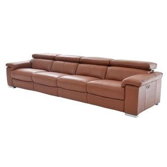 Nathan Tan Oversized Leather Sofa