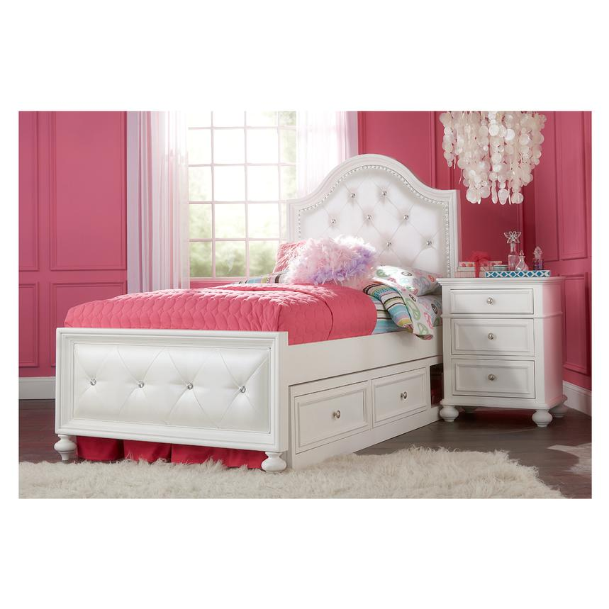 Kailee White Twin Bed alternate image, 2 of 5 images. | El Dorado Furniture