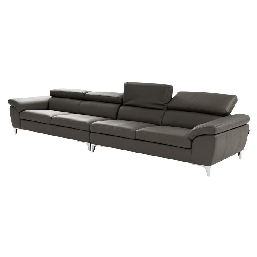 Costa Gray Oversized Sofa El Dorado Furniture