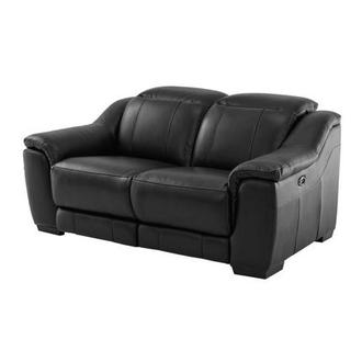 Davis Black Power Motion Leather Loveseat