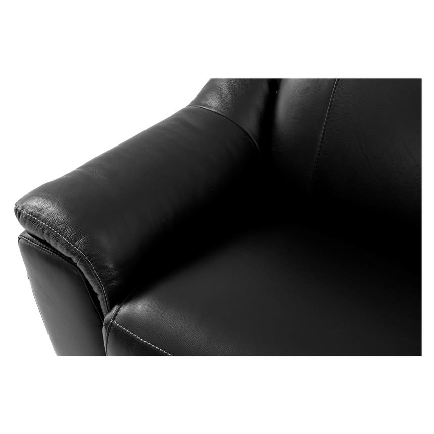Davis Black Power Motion Leather Sofa  alternate image, 7 of 9 images.