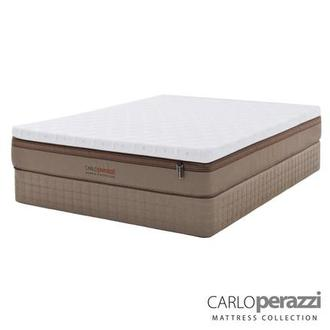 Naples Hybrid Twin XL Mattress Set w/Low Foundation by Carlo Perazzi