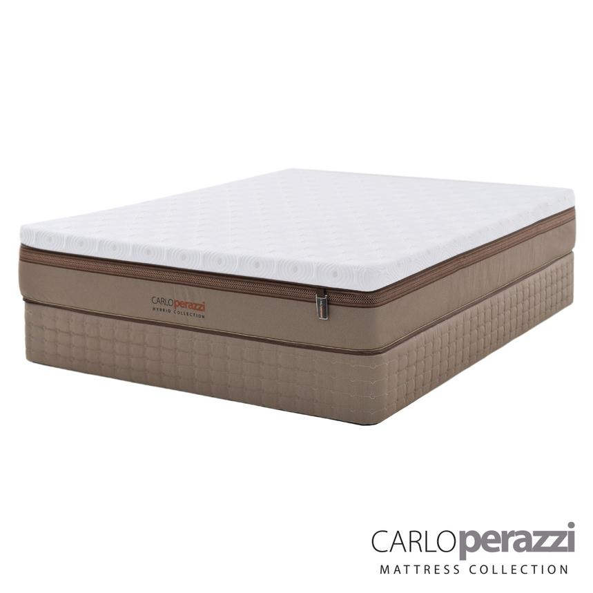 Verona Hybrid Queen Mattress Set w/Low Foundation by Carlo Perazzi  main image, 1 of 5 images.