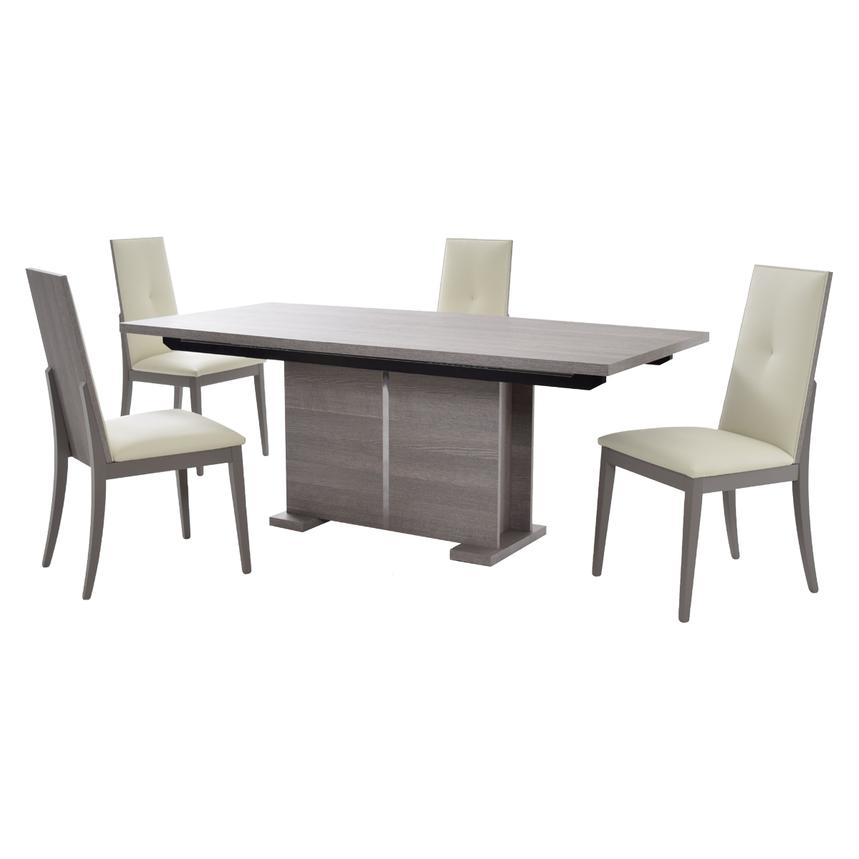 Tivo 5 Piece Formal Dining Set Made In Italy Main Image 1 Of 15