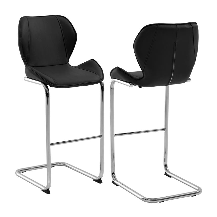 Latika Black Bar Stool  main image, 1 of 6 images.
