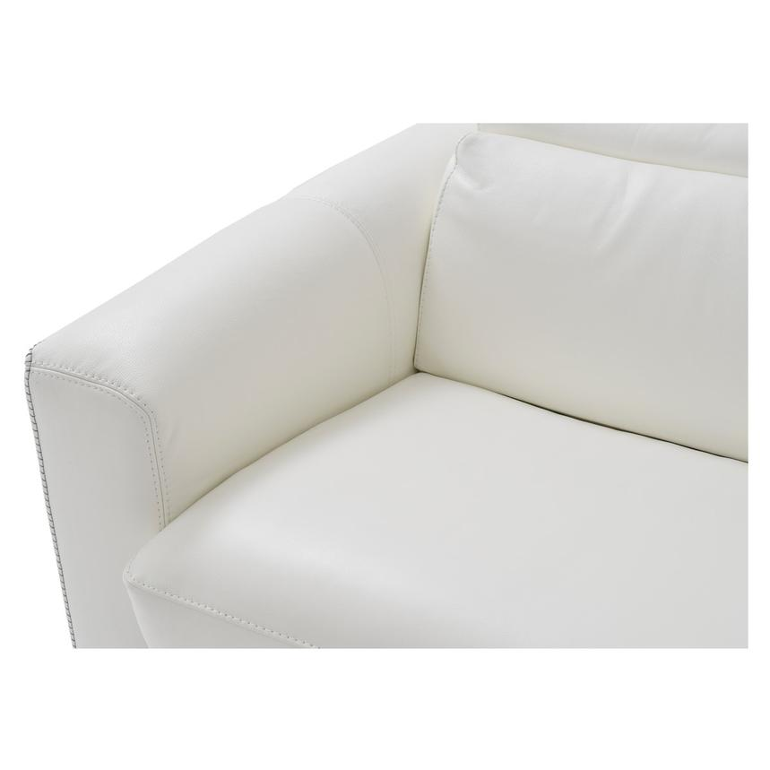 Bay Harbor White Leather Sleeper w/Storage  alternate image, 7 of 9 images.