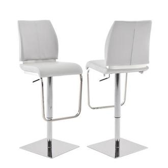 Maday White Adjustable Stool