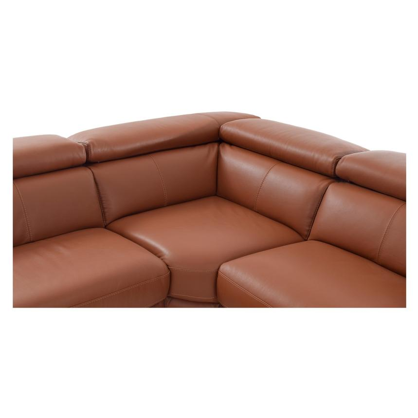 Nathan Tan Power Motion Leather Sofa w/Right & Left Recliners  alternate image, 7 of 8 images.