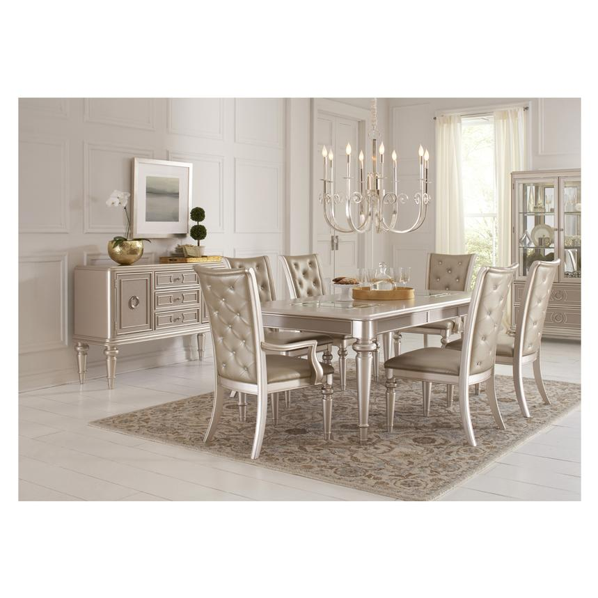 Merveilleux Dynasty 5 Piece Formal Dining Set Alternate Image, 2 Of 14 Images.