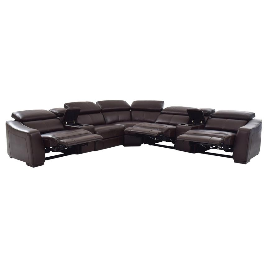 James Brown Motion Leather Sofa W Right Left Recliners Alternate Image 2